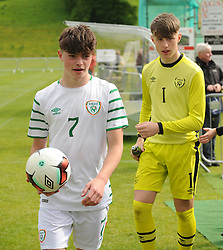Sean Kennedy scored a hat-trick against Northern Ireland in the Uefa U16 development fixture at United park Westport.<br />