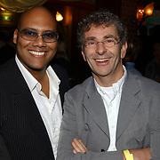 Uitreiking populariteitsprijs 2004, mark Dakriet en Chiel van Praag
