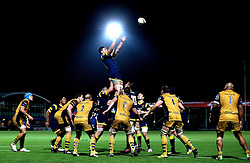 Charlie Hewitt of Worcester Warriors catches the ball from the line out - Mandatory by-line: Robbie Stephenson/JMP - 04/11/2016 - RUGBY - Sixways Stadium - Worcester, England - Worcester Warriors v Bristol Rugby - Anglo Welsh Cup