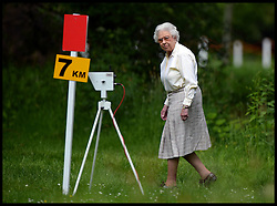 HM The Queen watches the carriage driving at Windsor Horse Show. Windsor, United Kingdom. Saturday, 17th May 2014. Picture by Andrew Parsons / i-Images