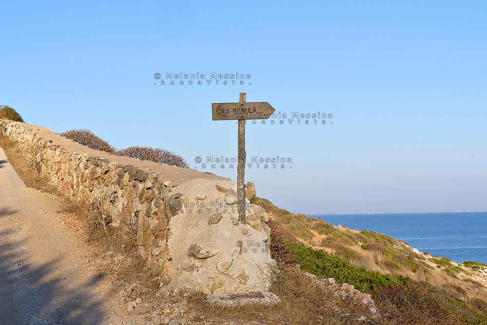 "Path to ""Cala Minnola"" in Levanzo, Egadi islands"