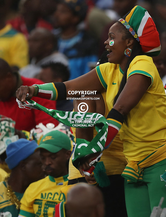 General views of fans during the match between Bafana Bafana South Africa and Guinea-Bissau at Moses Mabhida Stadium in Durban South Africa,25 March 2017 (Steve Haag)