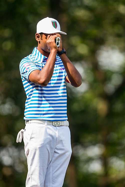 Arjun Prasad of India in action during day two of the 10th Faldo Series Asia Grand Final at Faldo course on 03 March of 2016 in Shenzhen, China. Photo by Xaume Olleros.