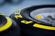 February 20, 2013 - Barcelona Spain. Pirelli 2013 tire detail.