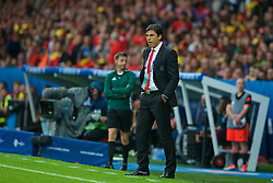 LILLE, FRANCE - Friday, July 1, 2016: Wales manager Chris Coleman during the UEFA Euro 2016 Championship Quarter-Final match against Belgium at the Stade Pierre Mauroy. (Pic by Paul Greenwood/Propaganda)