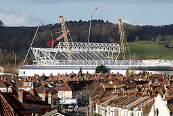 A General View of Ashton Gate Stadium, home of Bristol City Football Club and Bristol Rugby, as the new West Stand Roof takes shape - Mandatory byline: Rogan Thomson/JMP - 08/12/2015 - SPORT - Ashton Gate Stadium - Bristol, England.