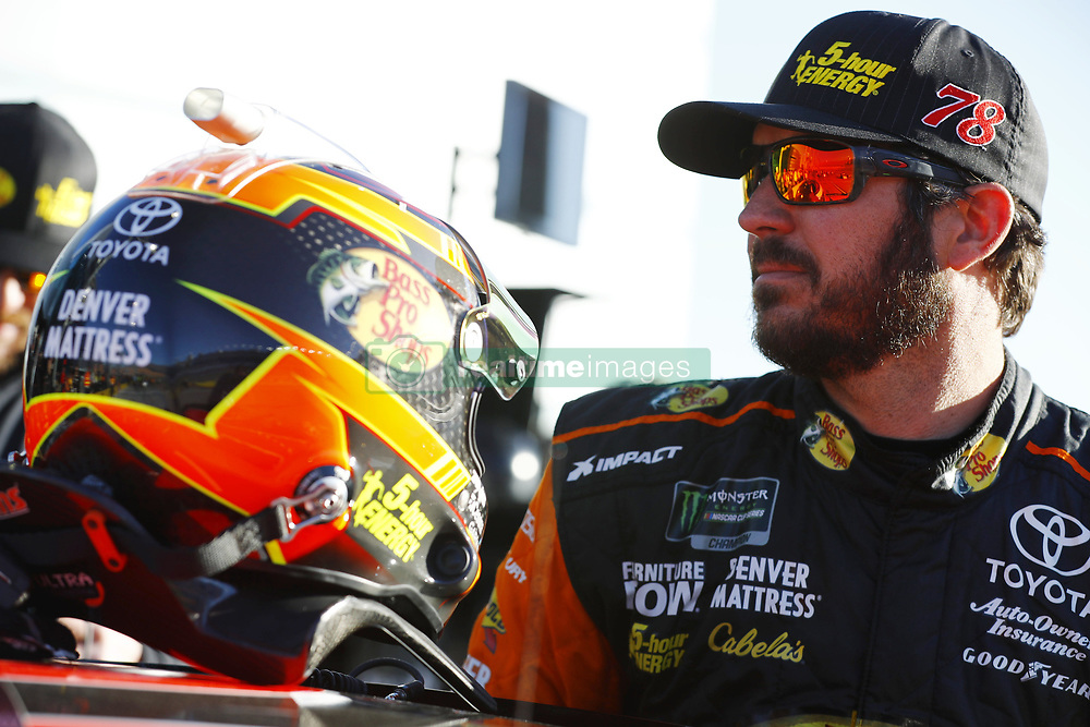 March 2, 2018 - Las Vegas, Nevada, United States of America - March 02, 2018 - Las Vegas, Nevada, USA: Martin Truex Jr (78) hangs out on pit road before qualifying for the Pennzoil 400 at Las Vegas Motor Speedway in Las Vegas, Nevada. (Credit Image: © Chris Owens Asp Inc/ASP via ZUMA Wire)