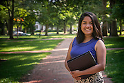 Environmental Portrait On Location – Images of Ohio University College of Business student, Maria Figueroa, on the Ohio University campus in Athens, Ohio. [Photograph by Joel Prince/ © Ohio University]