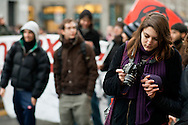 Milano, 40esimo anniversario della strage di Piazza Fontana, 12 dicembre 2009. Manifestazione dei movimenti sociali.