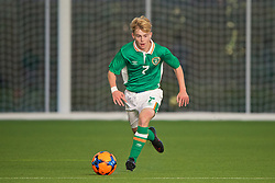 EDINBURGH, SCOTLAND - Tuesday, November 1, 2016: Republic of Ireland's Marc Walsh in action against Northern Ireland during the Under-16 2016 Victory Shield match at ORIAM. (Pic by David Rawcliffe/Propaganda)