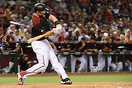 PHOENIX, AZ - MAY 14:  Paul Goldschmidt #44 of the Arizona Diamondbacks singles to center in the eighth inning against the San Francisco Giants at Chase Field on May 14, 2016 in Phoenix, Arizona.  (Photo by Jennifer Stewart/Getty Images)