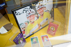 Hannah Barnes & Alice Barnes in the shop window in Oundle - Stage 1 of the OVO Energy Women's Tour - a 147.5 km road race, between Daventry and Kettering on June 7, 2017, in Northamptonshire, United Kingdom. (Photo by Sean Robinson/Velofocus.com)