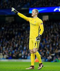 Joe Hart of Manchester City shouts - Mandatory byline: Matt McNulty/JMP - 15/03/2016 - FOOTBALL - Etihad Stadium - Manchester, England - Manchester City v Dynamo Kyiv - Champions League - Round of 16