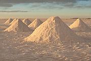 Salar de Uyuni, Collecting salt at Cochani