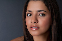 Portrait of young model looking at camera.