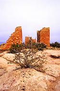 Hovenweep Castle before sunrise. Hovenweep National Monument, Utah