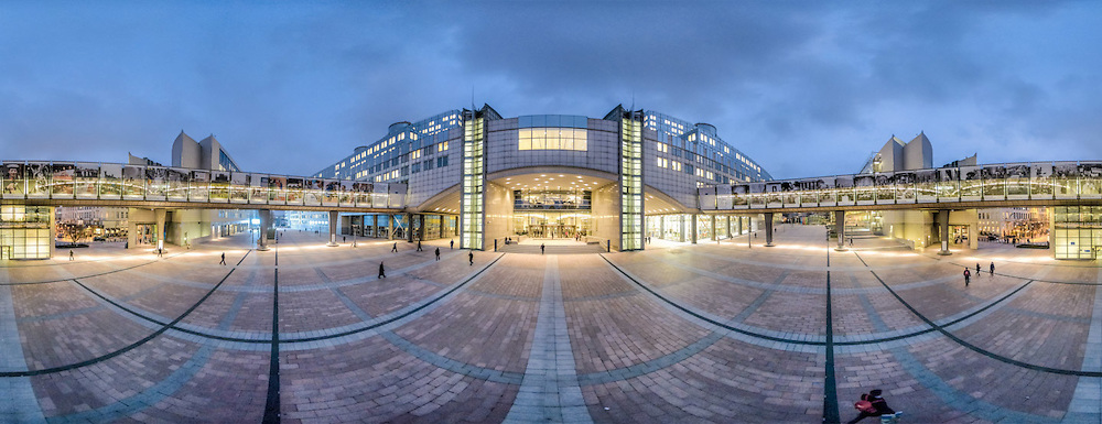 Panoramic View building European Parliament