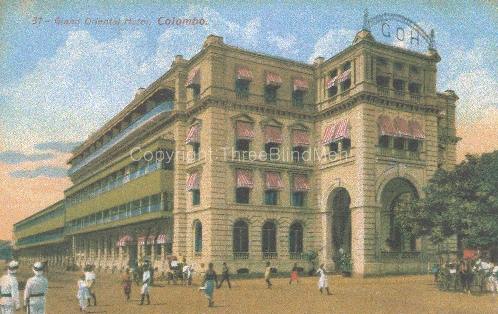 Old Post Card of Ceylon. G.O.H. or Grand Oriental Hotel, Colombo.