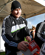 The New Zealand All blacks training session at Yarrow Stadium, New Plymouth, Auckland. Monday 7th June 2010. Aled de Malmanche signing autographs. Photo: Mike Scott/PHOTOSPORT