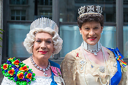 London, July 8th 2017. Thousands of LGBT+ revellers take part in the annual Pride in London parade under the banner #LoveHappensHere. PICTURED: Pride 'royalty'.