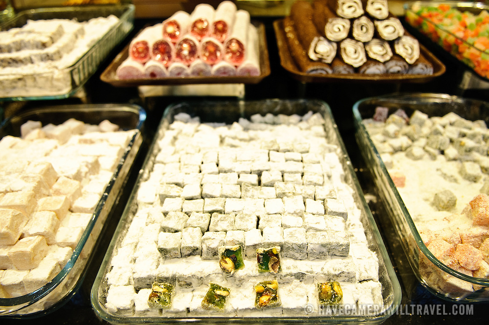A lokum (Turkish Delight) confectionary store in Istanbul, Turkey