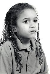 Studio portrait of small girl UK 1990s