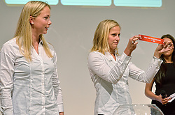 30-03-2015 NED: FIVB Drawing WCH Beach Volleyball, The Hague<br /> The Drawing of Lots for the FIVB Beach Volleyball World Championships The Netherlands 2015 will take place at the Mauritshuis art museum / Madelein Meppelink en Marleen van Iersel