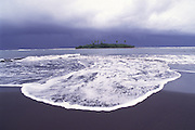 Mahian Black Sand Beach, Tahiti, French polynesua<br />