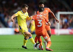 Tom Nichols of Bristol Rovers tackles Dan Potts of Luton Town - Mandatory by-line: Alex James/JMP - 15/09/2018 - FOOTBALL - Kenilworth Road - Luton, England - Luton Town v Bristol Rovers - Sky Bet League One