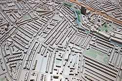 UK ENGLAND LONDON 20APR15 - Detail view of my neighbourhood in Maida Vale on the New London Architecture scale model of all built and approved buildings in London on display in The Building Centre, central London.<br /> <br /> <br /> <br /> jre/Photo by Jiri Rezac<br /> <br /> <br /> <br /> © Jiri Rezac 2015