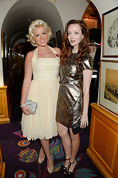 Left to right, NATALIE COYLE and OLIVIA GRANT  at Tatler Magazine's Little Black Book Party held at Annabel's, Berkeley Square, London on 5th November 2013.