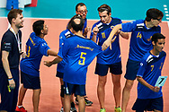 Katowice, Poland - 2017 September 02: Athlete Roberto Pizzamiglio from SO Italy warm welcome by whole team and referee on the court while SO Italy versus SO Belarus during European Unified Volleyball Tournament 2017 at Spodek Hall on September 02, 2017 in Katowice, Poland.<br /> <br /> Adam Nurkiewicz declares that he has no rights to the image of people at the photographs of his authorship.<br /> <br /> Picture also available in RAW (NEF) or TIFF format on special request.<br /> <br /> Any editorial, commercial or promotional use requires written permission from the author of image.<br /> <br /> Image can be used in the press when the method of use and the signature does not hurt people on the picture.<br /> <br /> Mandatory credit:<br /> Photo by © Adam Nurkiewicz / Mediasport