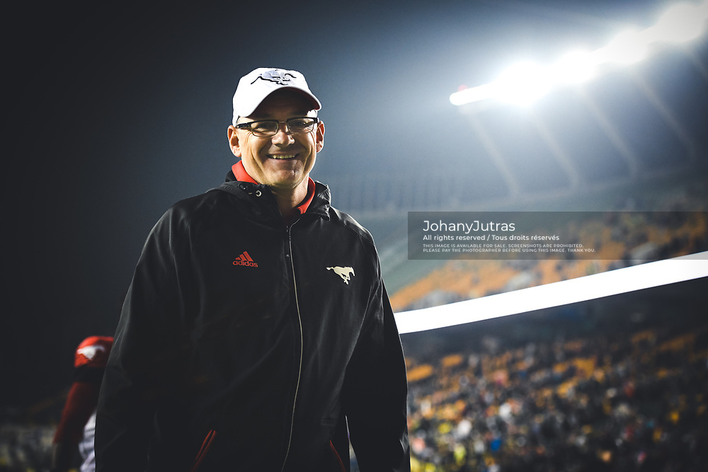 Calgary Stampeders chaplain Rodd Sawatzy after the game against the Edmonton Eskimos at Commonwealth Stadium in Edmonton AB, Saturday, September 9, 2017. (Photo: Johany Jutras)