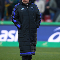 JOHANNESBURG, SOUTH AFRICA - JULY 25: Steve Hansen (Head Coach) of New Zealand during The Castle Lager Rugby Championship 2015 match between South Africa and New Zealand at Emirates Airline Park on July 25, 2015 in Johannesburg, South Africa. (Photo by Steve Haag/Gallo Images)