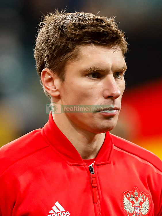 November 15, 2018 - Leipzig, Germany - Kirill Nababkin of Russia looks on during the international friendly match between Germany and Russia on November 15, 2018 at Red Bull Arena in Leipzig, Germany. (Credit Image: © Mike Kireev/NurPhoto via ZUMA Press)