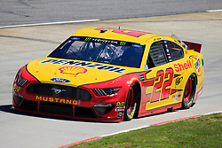 March 23, 2019 - Martinsville, VA, U.S. - MARTINSVILLE, VA - MARCH 23: #22: Joey Logano, Team Penske, Ford Mustang Shell Pennzoil during final practice for the STP 500 Monster Energy NASCAR Cup Series race on March 23, 2019 at the Martinsville Speedway in Martinsville, VA.  (Photo by David J. Griffin/Icon Sportswire) (Credit Image: © David J. Griffin/Icon SMI via ZUMA Press)