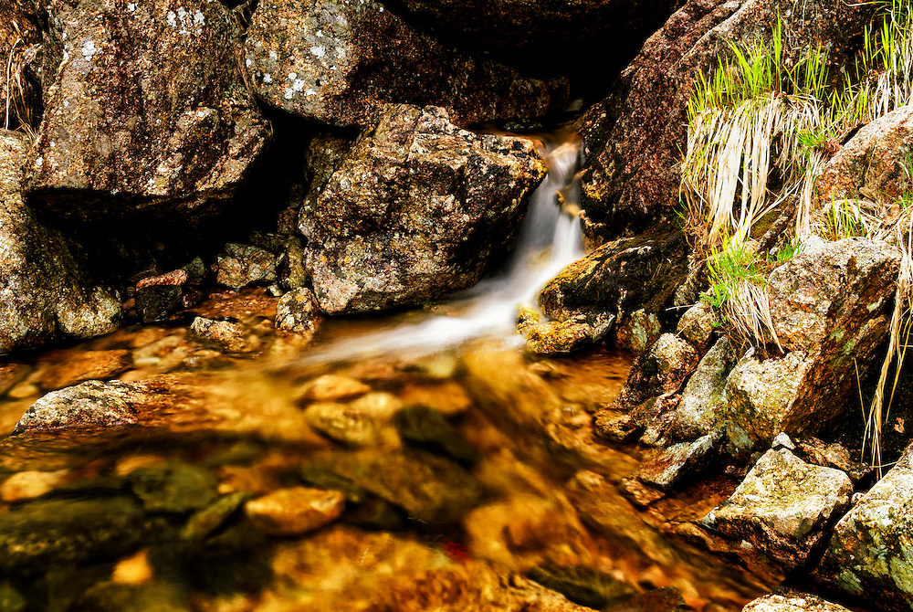 A small waterfall at Heskestad.