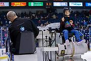 KELOWNA, CANADA - JANUARY 09: Orchard Park Zamboni Rider at the Kelowna Rockets game on January 09, 2019 at Prospera Place in Kelowna, British Columbia, Canada. (Photo By Cindy Rogers/Nyasa Photography, *** Local Caption ***