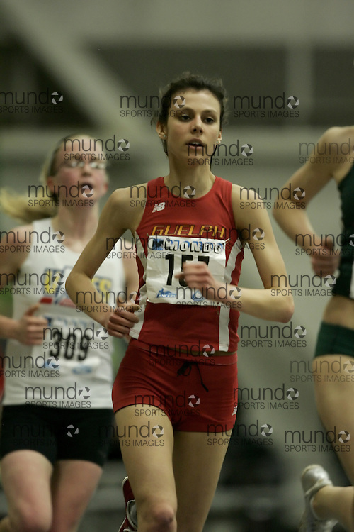 (Windsor, Ontario---12 March 2010) \157157\ competes in the 3000m final at the 2010 Canadian Interuniversity Sport Track and Field Championships at the St. Denis Center. Photograph copyright Geoff Robins/Mundo Sport Images. www.mundosportimages.com