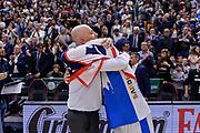 DESCRIZIONE : Beko Legabasket Serie A 2015- 2016 Playoff Quarti di Finale Gara3 Dinamo Banco di Sardegna Sassari - Grissin Bon Reggio Emilia<br /> GIOCATORE : Massimiliano Menetti Brian Sacchetti<br /> CATEGORIA : Fair Play Postgame Ritratto Delusione<br /> SQUADRA : Dinamo Banco di Sardegna Sassari<br /> EVENTO : Beko Legabasket Serie A 2015-2016 Playoff<br /> GARA : Quarti di Finale Gara3 Dinamo Banco di Sardegna Sassari - Grissin Bon Reggio Emilia<br /> DATA : 11/05/2016<br /> SPORT : Pallacanestro <br /> AUTORE : Agenzia Ciamillo-Castoria/L.Canu