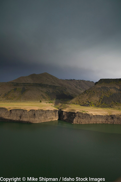 Storm over Arrowrock Reservoir, Boise/Elmore Counties, Idaho, USA