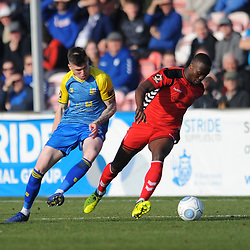 TELFORD COPYRIGHT MIKE SHERIDAN 23/2/2019 - Dan Udoh of AFC Telfordduring the FA Trophy quarter final fixture between Solihull Moors and AFC Telford United at the Automated Technology Group Stadium