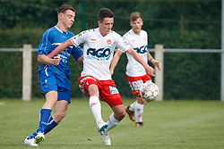 June 23, 2018 - Bissegem, BELGIUM - Kortrijk's Liam Prez fights for the ball during a friendly game, the first of the new season 2018-2019 for KV Kortrijk, between KRC Bissegem and Kortrijk, in Bissegem, Saturday 23 June 2018. BELGA PHOTO KURT DESPLENTER (Credit Image: © Kurt Desplenter/Belga via ZUMA Press)