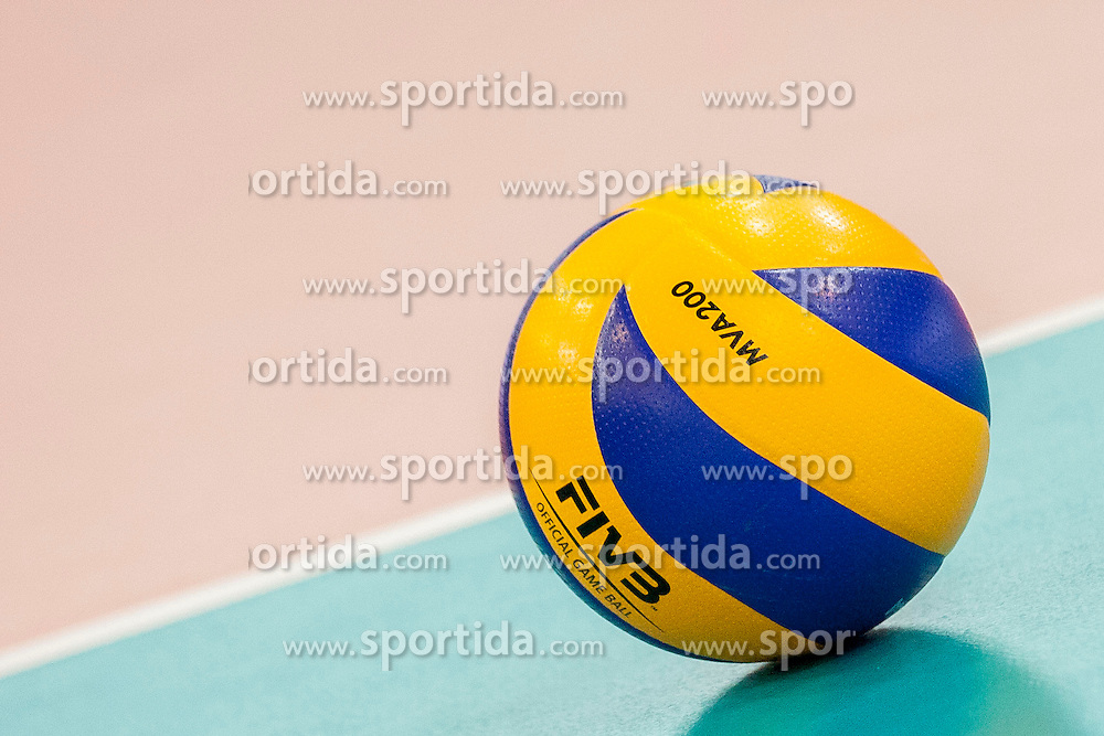 Ball during volleyball match between National Teams of Slovenia and Azerbaijan of 2014 CEV Volleyball European League Women - Pool A, on July 5, 2014, in Arena Ljudski vrt Lukna, Maribor, Slovenia, Slovenia. Photo by Urban Urbanc / Sportida