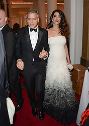 George and Amal Clooney during the 42nd Annual Cesar Cinema Awards held at the Salle Pleyel in Paris, France on February 24, 2017. Photo by Aurore Marechal/ABACAPRESS.COM