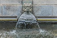 dragon fountain Chi Lin Nunnery Kowloon in Hong Kong