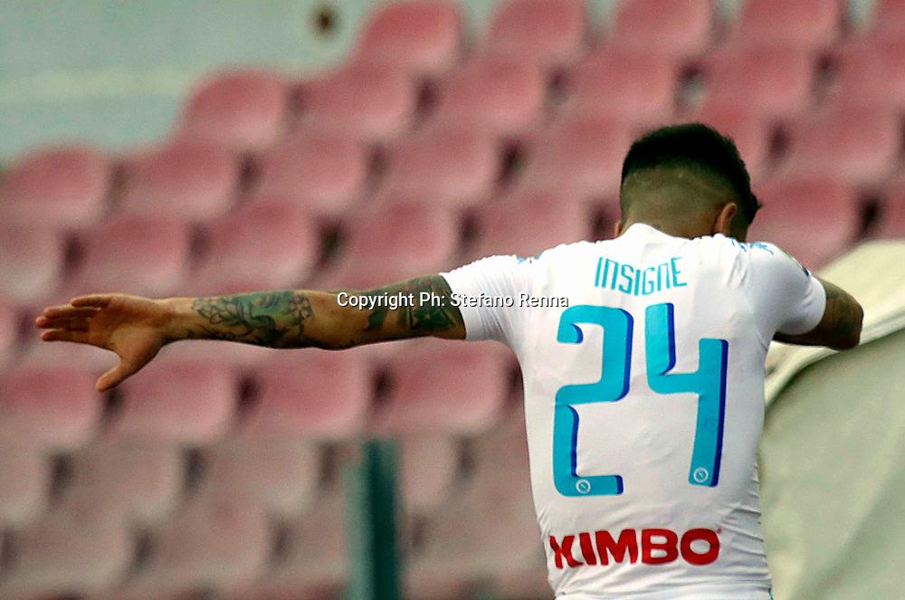 Napoli 12 marzo 2017<br /> Campionato di calcio di serie A : Napoli Crotone<br /> Ph: Stefano Renna<br /> Nella foto :  Lorenzo Insigne