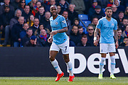 Manchester City midfielder Raheem Sterling (7) and Manchester City defender Kyle Walker (2) during the Premier League match between Crystal Palace and Manchester City at Selhurst Park, London, England on 14 April 2019.