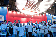 Szymon Kolecki - President of Polish Weightlifting Federation with Special Olympics athletes during weightlifting IWF World Championships Wroclaw 2013 at Centennial Hall in Wroclaw on October 22, 2013.<br /> <br /> Poland, Wroclaw, October 22, 2013<br /> <br /> Picture also available in RAW (NEF) or TIFF format on special request.<br /> <br /> For editorial use only. Any commercial or promotional use requires permission.<br /> <br /> Mandatory credit:<br /> Photo by © Adam Nurkiewicz / Mediasport
