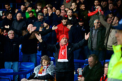 LIVERPOOL, ENGLAND - Sunday, March 3, 2019: Liverpools supporters during the FA Premier League match between Everton FC and Liverpool FC, the 233rd Merseyside Derby, at Goodison Park. (Pic by Paul Greenwood/Propaganda)